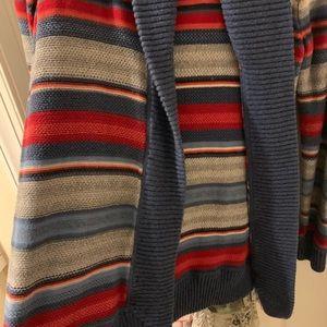 Ralph Lauren striped cardigan sweater.